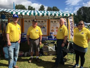 Banbury Lions with our Stall