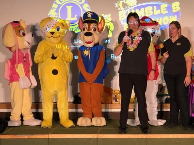Pudsey, the Paw Patrol team and the Bumble B Roadshow