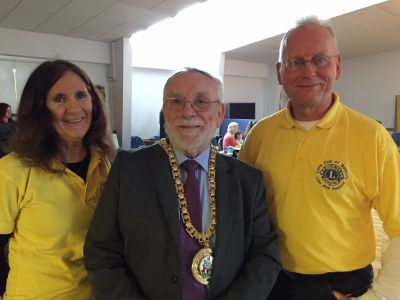 Gordon Ross, Mayor of Banbury, dropped in to see the fun